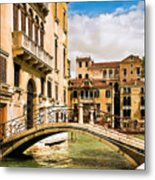 Bridge On The Canal Metal Print