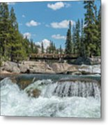 Bridge On The Pct Metal Print