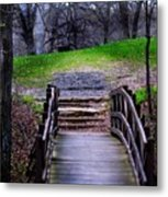 Bridge On The Trail Metal Print