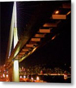 Bridge Over Hong Kong Harbor Metal Print