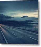 Bridge Over Lake Sylvenstein Metal Print
