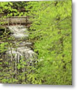 Bridge Over Little Clifty Falls Metal Print