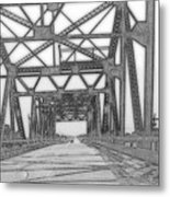 Bridge Over Mississippi Metal Print
