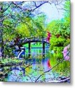 Bridge Over Peaceful Waters Metal Print
