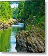 Bridge Over Quechee Gorge-vermont  Metal Print