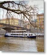 Bridge Over River Vltava Metal Print