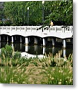 Bridge Over Silver Lake - Rehoboth Beach Delaware Metal Print