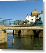 Bridge Over Staithes Beck Metal Print