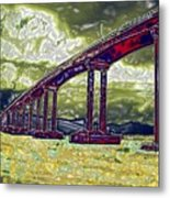 Bridge Over Stormy Waters Metal Print