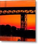 Bridge Over Sunset Metal Print