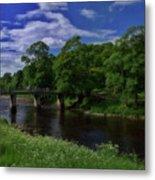 Bridge Over The River Wharf Metal Print