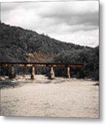 Bridge Over The Winooski Metal Print
