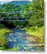 Bridge Over Tropical Dreams Metal Print