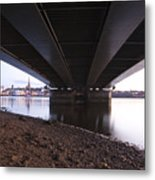 Bridge Over Wexford Harbour Metal Print