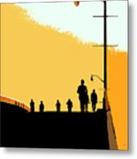 Bridge People Metal Print