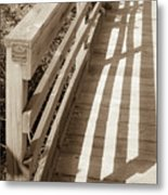 Bridge Railing Metal Print