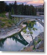 Bridge Reflection Metal Print