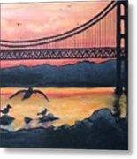 Bridge Silhouette  Metal Print