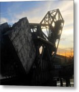 Bridge Sundown Metal Print