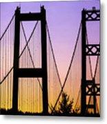 Bridge Sunset Metal Print