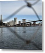 Bridge Through The Fence Metal Print