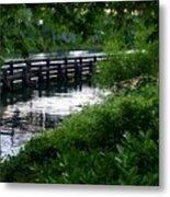 Bridge Through The Trees Metal Print