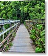 Bridge To Bamboo Forest Metal Print