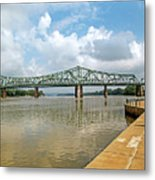 bridge to Belpre, Ohio Metal Print