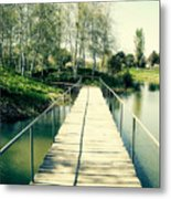 Bridge To Evening Island Metal Print
