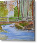 Bridge To Serenity   Smithgall Woods State Park Metal Print