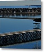 Bridge To Spinnaker Island Metal Print