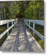 Bridge To Woods 1 Metal Print