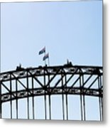 Bridge Walk Metal Print