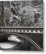 Bridges Of Multnomah Falls Metal Print