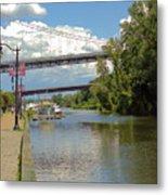 Bridges Spanning The Rondout Metal Print