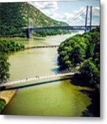 Bridges Through The Valley Metal Print