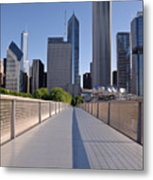 Bridgeway To Chicago Metal Print