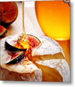 Brie Cheese With Figs And Honey Metal Print