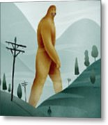 Brief Encounter With The Tall Man Metal Print