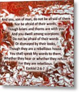Briers And Thorns With Scripture Metal Print