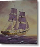 Brig Niagra On Lake Superior Metal Print