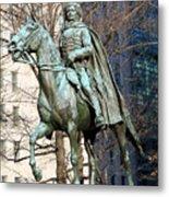 Brigadier General Casimir Pulaski Saved George Washington's Life Metal Print
