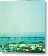 Brigantine Bridge - New Jersey Metal Print