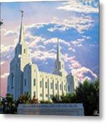 Brigham City Utah Temple Metal Print