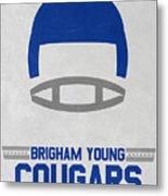 Brigham Young Cougars Vintage Football Art Metal Print