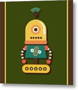 Bright And Colorful Robot Toy Metal Print