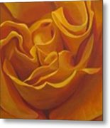 Bright As Yellow Metal Print