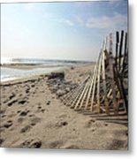 Bright Beach Morning Metal Print