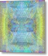 Bright Chalice Ancient Symbol Tapestry Metal Print