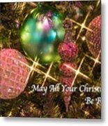 Bright Christmas Card Metal Print